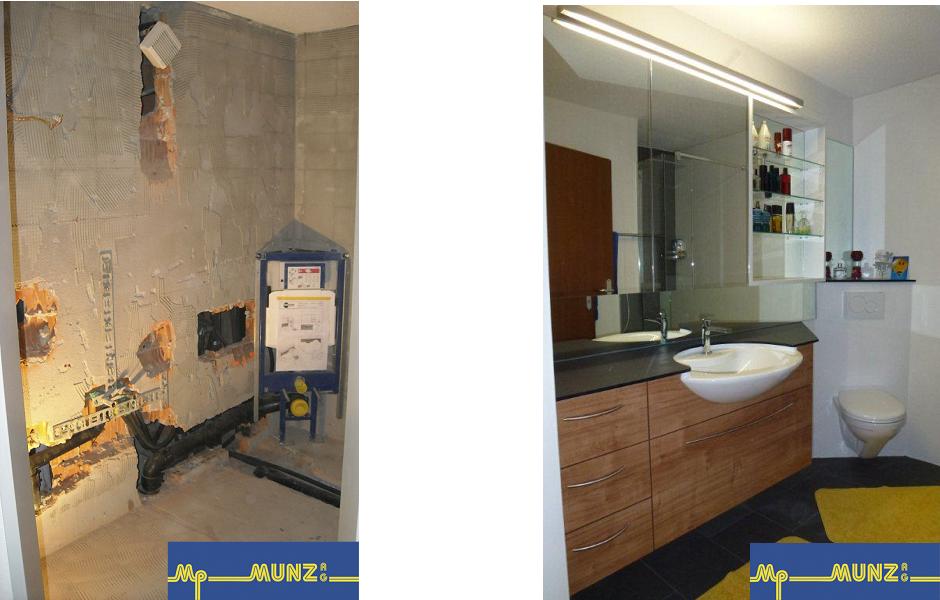 Vor und nach dem Bad-Umbau