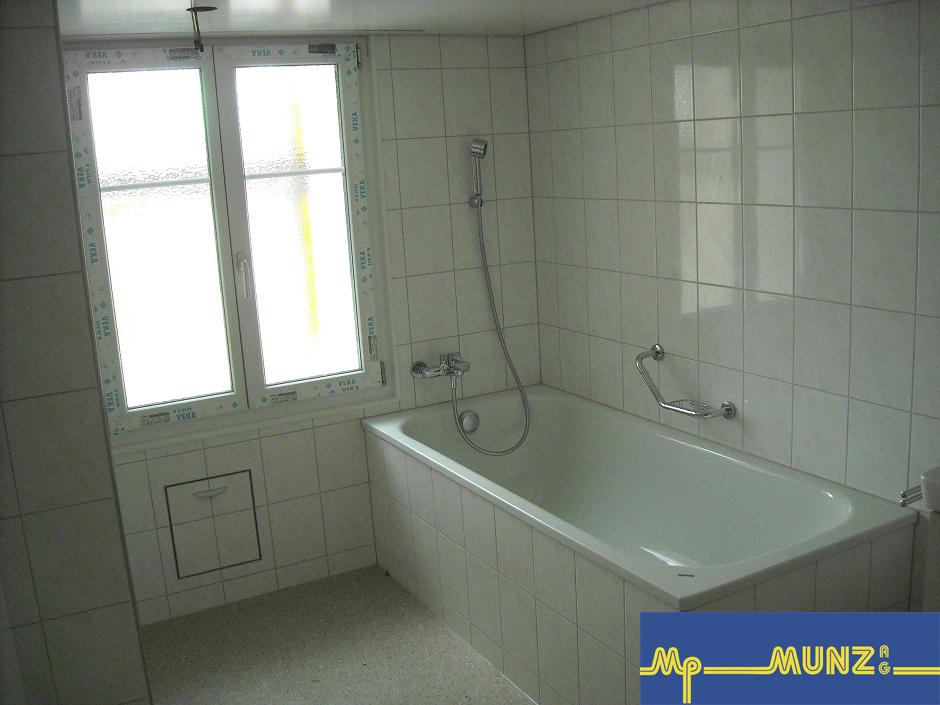 Nachher: WC und Bad